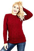 Теплый вязаный свитер для женщин 783 42–48р. в расцветках