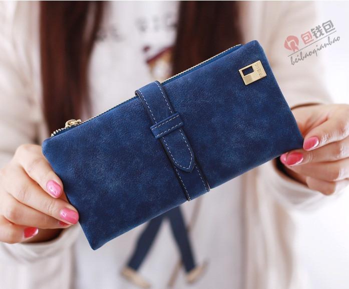 fb6773c7061c Женский кошелек из нубука FRIEND большой синий, цена 275 грн., купить в  Каменском — Prom.ua (ID#405285629)