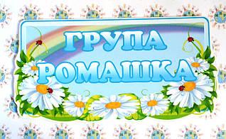 Табличка для группы оригинальная Ромашка
