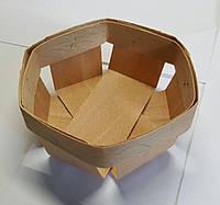 Корзина из букового шпона размер  90*90*45 мм