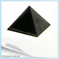 Пирамида шунгитовая полированная - защита вашего здоровья (70х70)