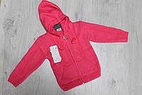 Вязаная кофта с карманами на девочку 1-2 года