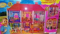 Домик для кукол с мебелью 2 этажа 6 комнат 6983