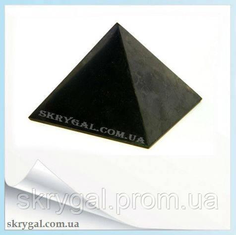 Пирамида (80*80) шунгитовая полированная - защита вашего здоровья