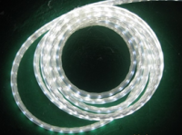 Світлодіодна стрічка 220В 60LED IP65 герметик силікон (Преміум) Біла Тепла