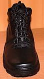Мужские зимние ботинки черные на шнурках от производителя черные модель АМ200, фото 2