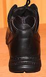 Мужские зимние ботинки черные на шнурках от производителя черные модель АМ200, фото 3