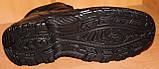 Мужские зимние ботинки черные на шнурках от производителя черные модель АМ200, фото 4