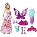Лялька Барбі Перевтілення Принцеса, Русалка, Фея Метелик Barbie Fairytale Dress DHC39, фото 6