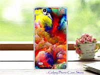 Силиконовый чехол на Sony Xperia C4 с картинкой Картина разных красок