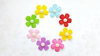 Фетровые цветочки заготовки Ассорти 2.6 см 10 шт/уп