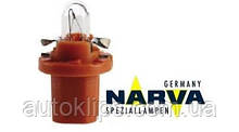 Лампа с патроном 12V 1W цоколь- BX8,5d щиток приборов NARVA 17019