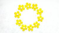 Фетровые цветочки заготовки Лимонные 2.6 см 10 шт/уп