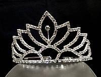 Диадема корона на металлическом обруче, высота 5,5 см