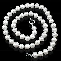 Жемчуг белый, Ø9, бусы, 162БСЖ, фото 1
