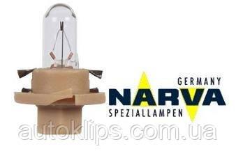 Лампа з патроном 12V 1,5 W цоколь BX8,4d щиток приладів NARVA 17048