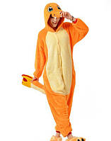 Пижама-кигуруми оранжевая дракончик