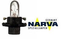 Лампа с патроном 12V 1,2W цоколь BX8,4d щиток приборов NARVA 17028