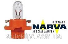 Лампа с патроном 12V 1,1W цоколь BX8,4d щиток приборов NARVA 17046