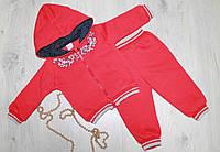 Теплый костюм с начесом для девочки