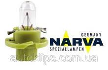 Лампа с патроном 12V 1,3W цокольBX8,4d щиток приборов NARVA 17047