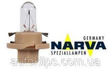 Лампа с патроном 12V 1,8W цокольBX8,4d щиток приборов NARVA №17060