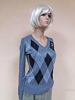 Пуловер Ромб, цвет серый