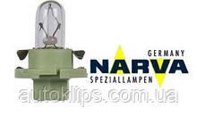 Лампа с патроном 12V 2W цоколь BX8,4d щиток приборов NARVA 17054