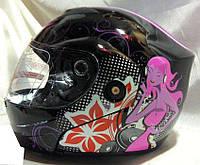 Мотошлем FGN Helmet женский, трансформер без очков