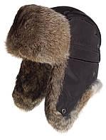 Мужская шапка ушанка из меха кролика натуральный рыжий.