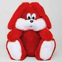 Плюшевая игрушка Зая сидячий 35 см.красный №1, З5-6 (игрушка заяц)