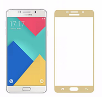 3D стекло для Samsung Galaxy A5 SM-A510 на весь экран Gold