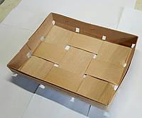 Корзина из букового шпона  размер 190*150*25 мм