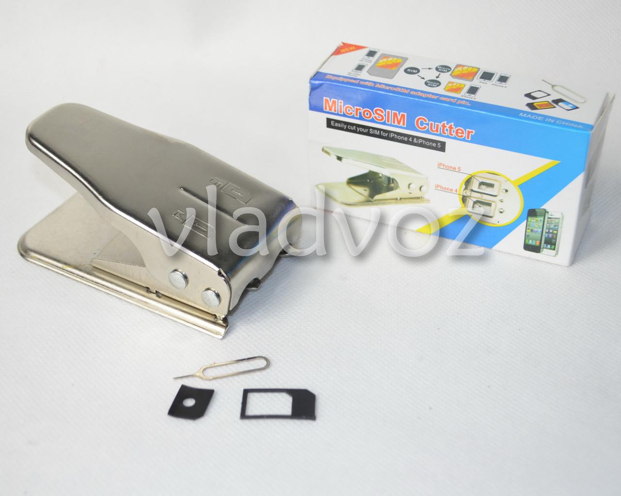 Micro + Nano SIM Cutter (Резак для сим карт 2 в 1) Micro SIM, nano SIM Cutter вид сверху
