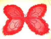 Крылья феи с пухом, красные (50Х50)