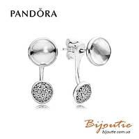 Серьги Pandora ОСЛЕПИТЕЛЬНОЕ СИЯНИЕ #290728CZ серебро 925 цирконий Пандора оригинал