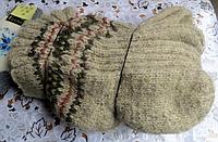 Мужские зимние носки из овчины - бежевого окраса