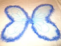 Крылья феи с пухом, голубые (50Х50)