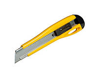 Нож 18мм сегментированное лезвие 215мм металическая направляющая, фиксация лезвия, 3 лезвия в компл