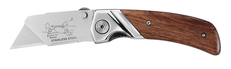 Нож складной STANLEY с деревянной рукояткой