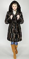 Шубка женская искусственная коричневая норка М-72 42-52 размеры