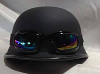 Мотошлем с очками, матовый немецкий