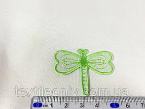 Нашивка бабка колір зелений