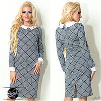 Официальное платье в гусинную лапку для деловой леди