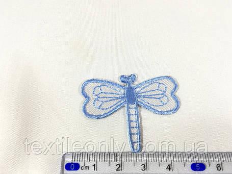 Нашивка бабка колір блакитний, фото 2