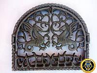 Печная дверца Драконы, чугунные дверки для печи и барбекю