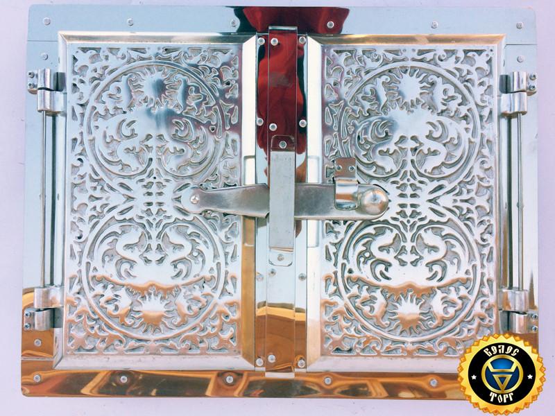 Печная дверца Дюраль Двухдверная, дверки для печи и духовки