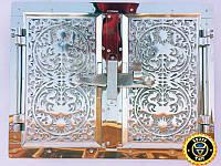 Печная дверца Дюраль Двухдверная, чугунные дверки для печи и барбекю