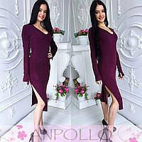 Красивое платье с разрезами по бокам, расцветки