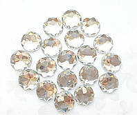 Кабошоны акриловые круглые граненые Белые 16 мм 1 шт